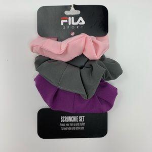 NWT Fila sport hair scrunchie set everyday active